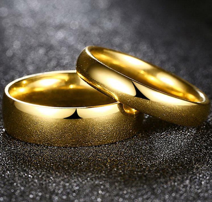 Позолоченные обручальные кольца
