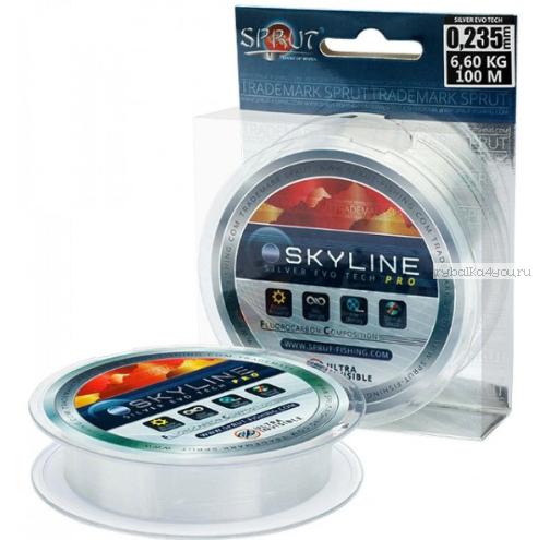 Флюорокарбоновая леска Sprut Skyline Evo Tech Pro 100 м / цвет: Silver