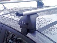 Багажник на крышу Lada Vesta sedan, Евродеталь, аэродинамические дуги