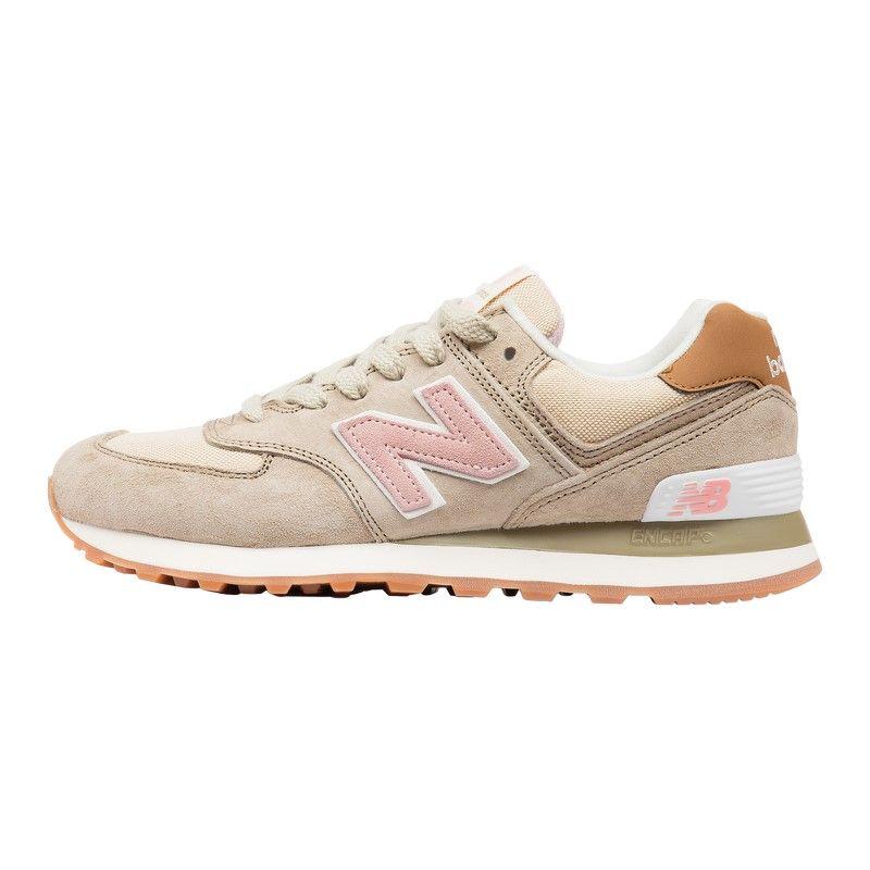 Кроссовки New Balance 574 WL574BCA Biege Pink (сетка)