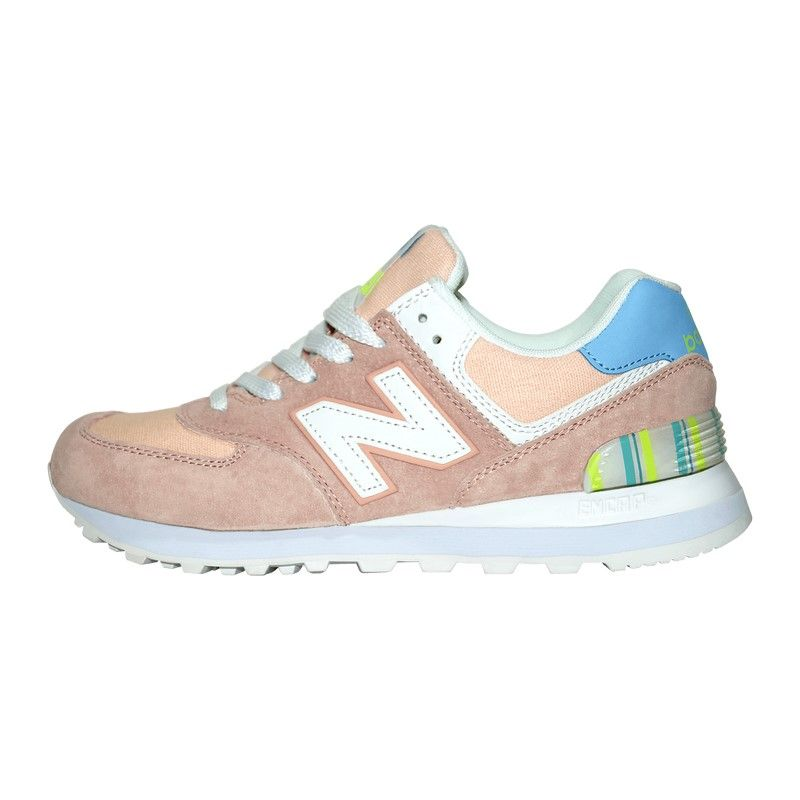 Кроссовки New Balance 574 WL574FBC Pink White Blue (сетка)