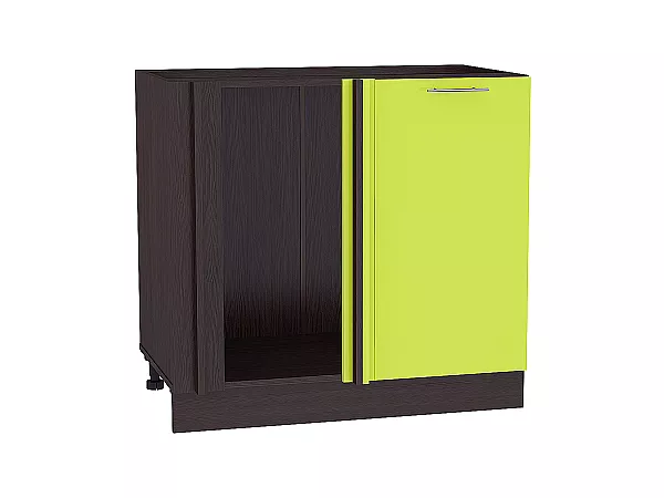 Шкаф нижний угловой Валерия НУ990 (лайм глянец)