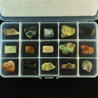 Коллекция необработанных минералов