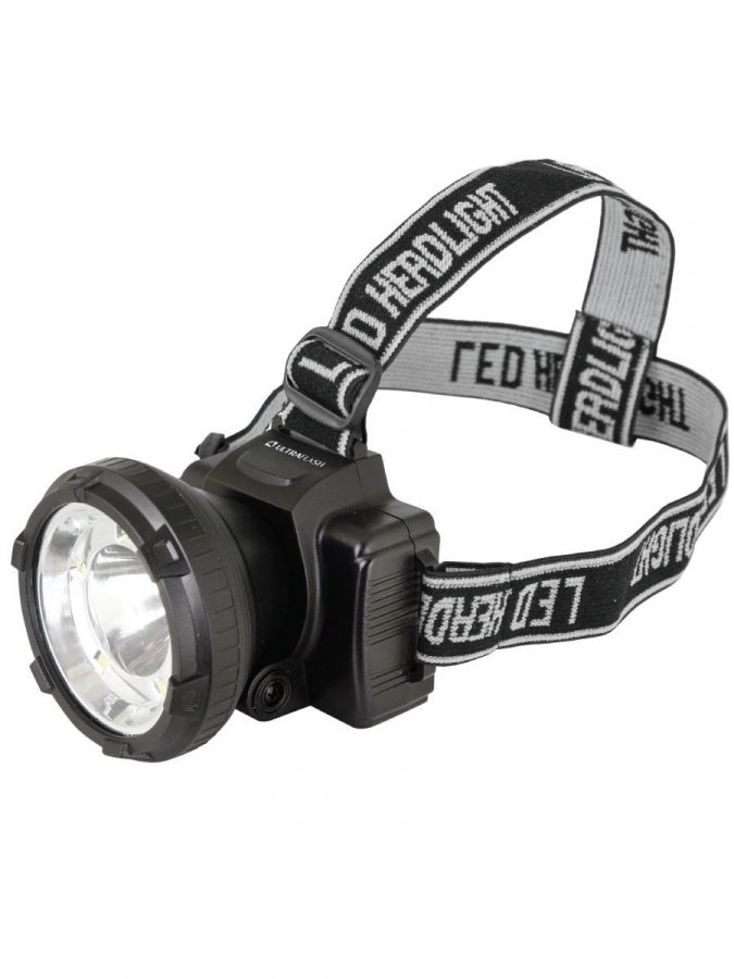 Налобный аккумуляторный фонарь UltraFlash LED5367 черный 1,2 Вт 13350