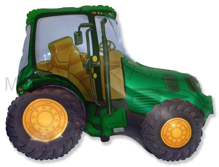 Шар фигура Трактор, зеленый