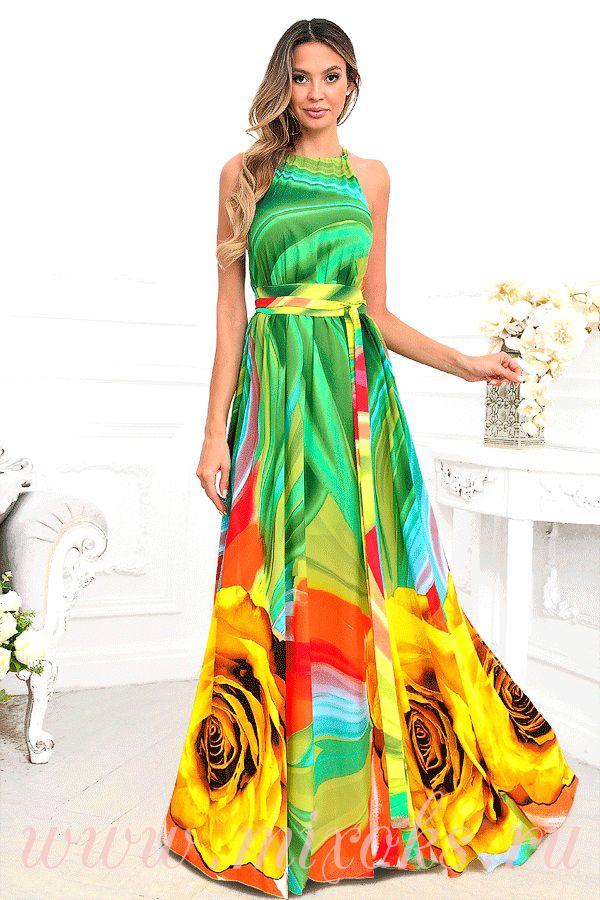 Платье из шифона с подкладом