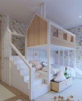 Двухъярусная кровать домик Fantasy №15