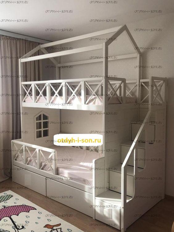 Двухъярусная кровать домик Standard №17