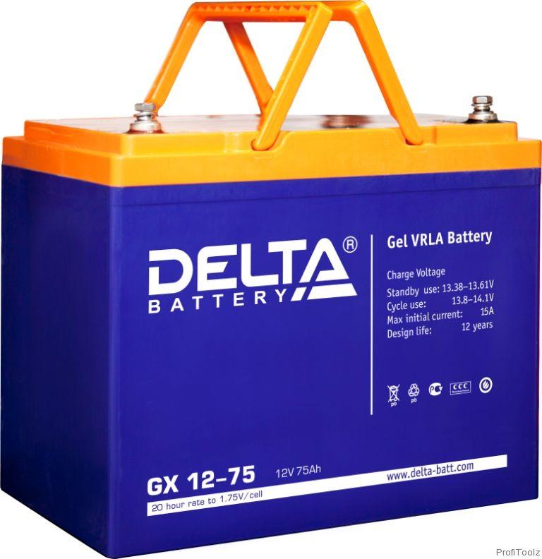 Батарея аккумуляторная Delta GX12-75