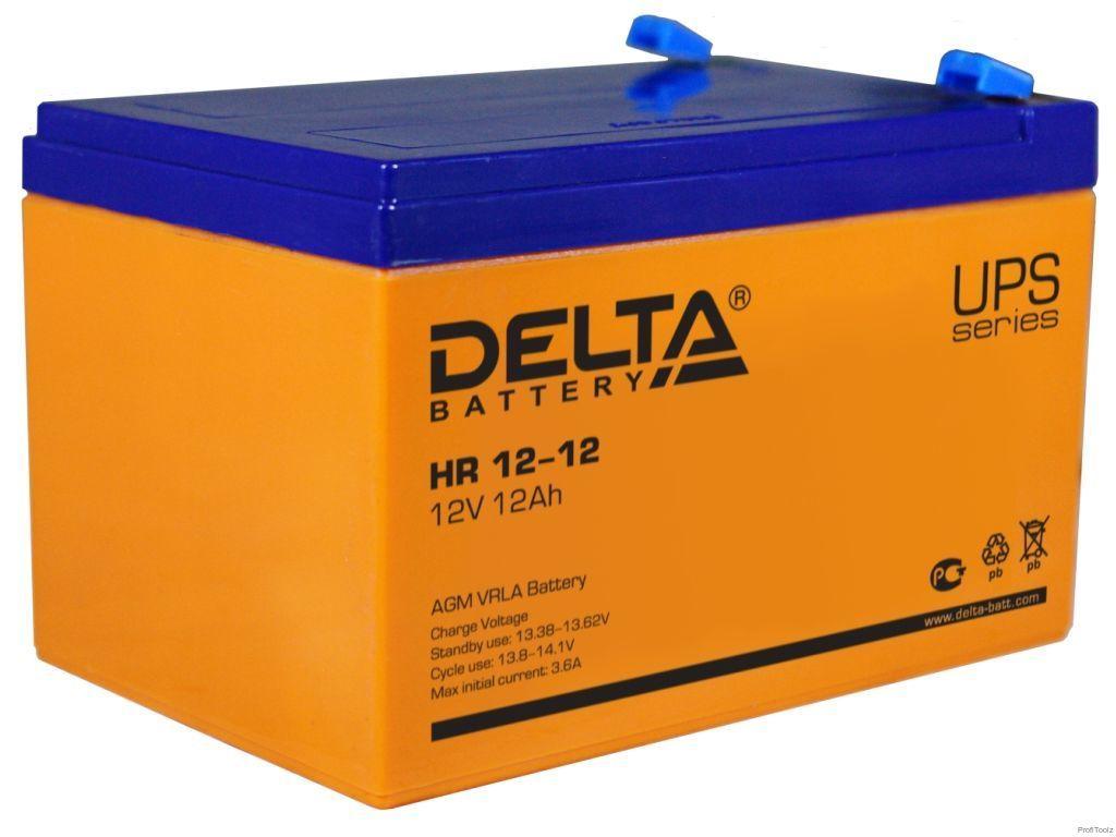 Батарея аккумуляторная Delta 12В 12Ач HR12-12
