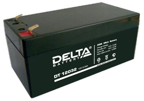 Батарея аккумуляторная Delta 12B 3,3 Ач DTM 12032