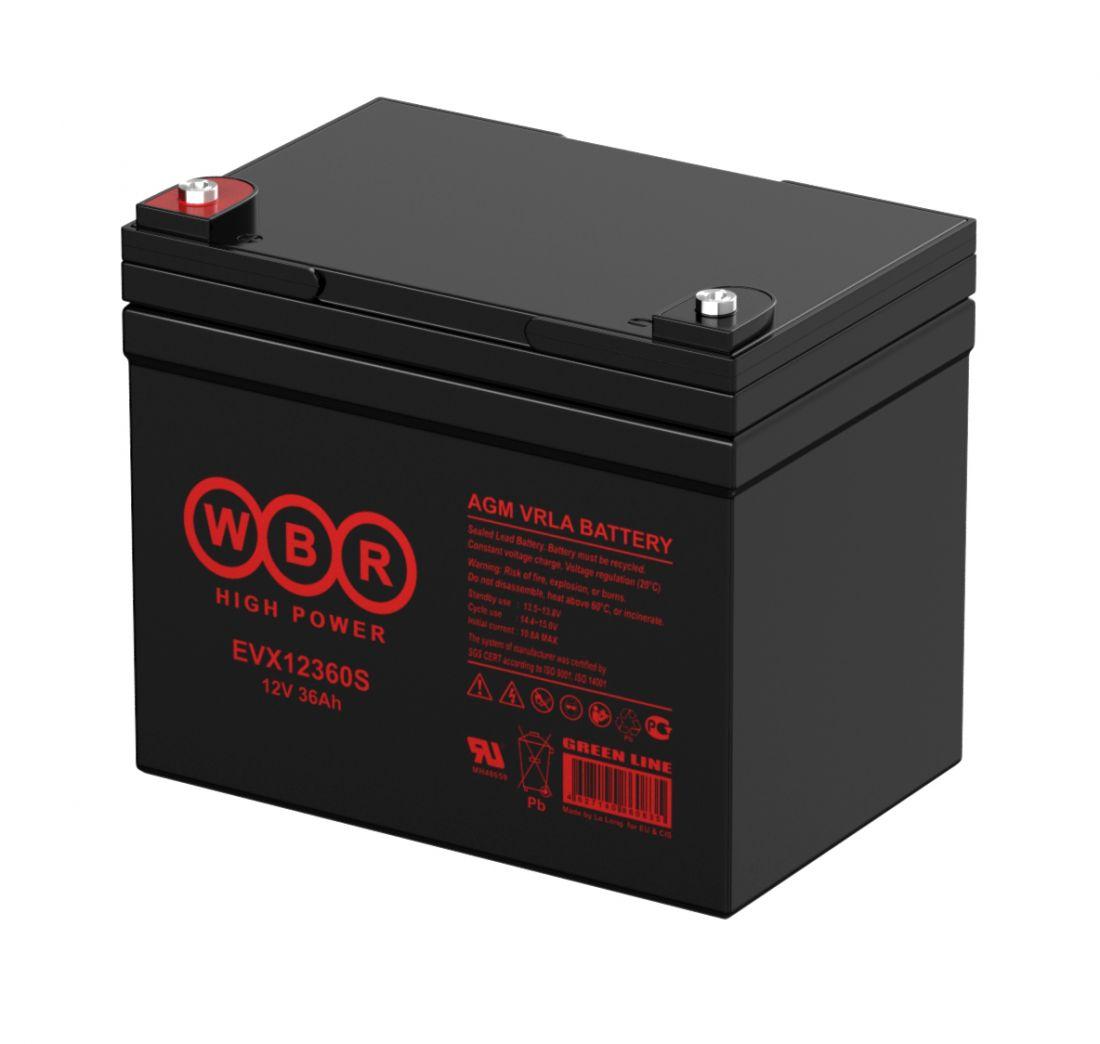 Батарея аккумуляторная WBR 12В 36Ач WBR EVX 12360S
