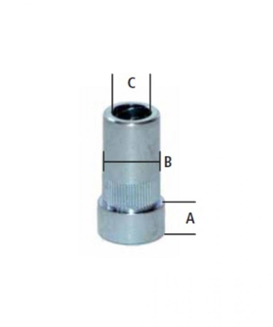 Втулка 12 х 8 х 2.5 мм, дистанционная