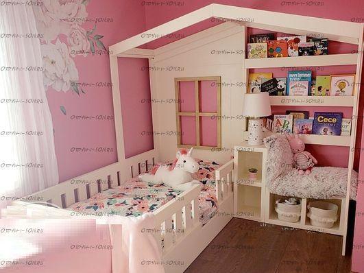 Кровать Домик угловой Fairy Land №12 IR (для двоих детей)