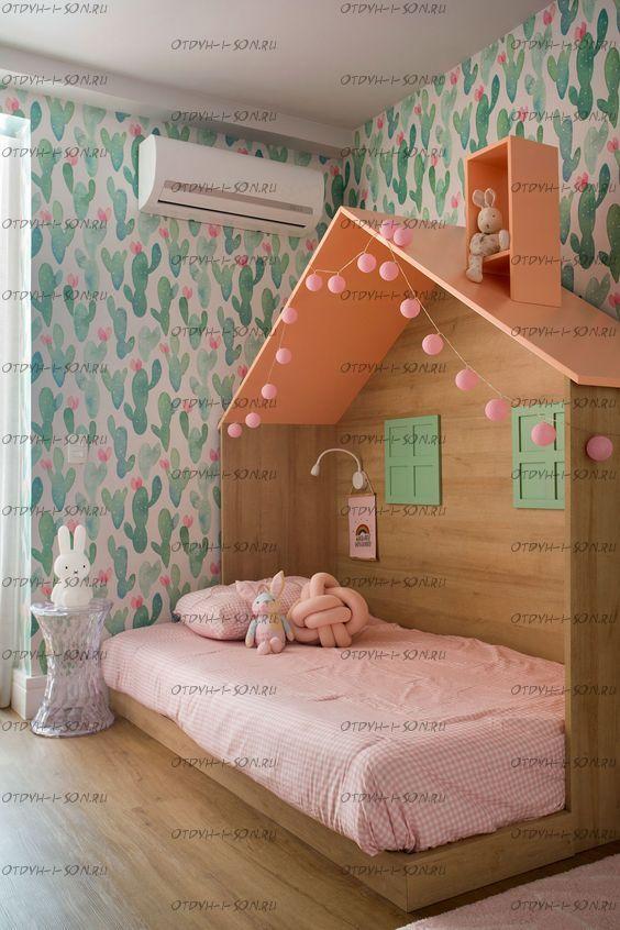 Кровать Домик для девочки Butterfly №IR3 (любые размеры)