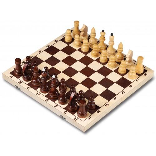 Шахматы деревянные гроссмейстерские лакированные 43x43см
