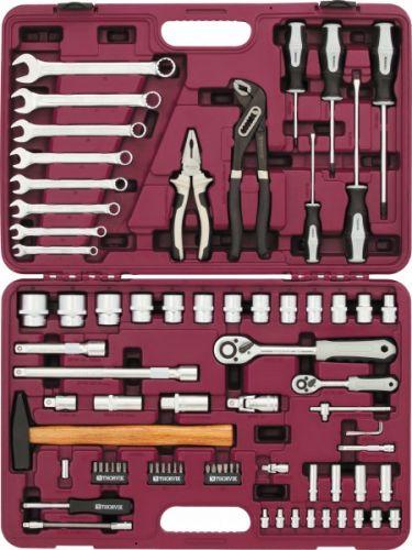 """UTS0077MP Набор инструмента универсальный 1/4"""", 1/2""""DR с головками торцевыми MultiProf, 77 предметов"""