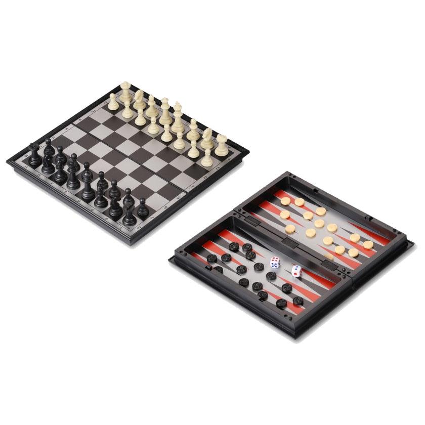 Набор 3 в 1 магнитный 9518 (нарды, шахматы, шашки) 24x24см
