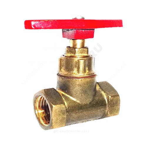 Клапан запорный латунь 15б1п Ру16 м/м Цветлит