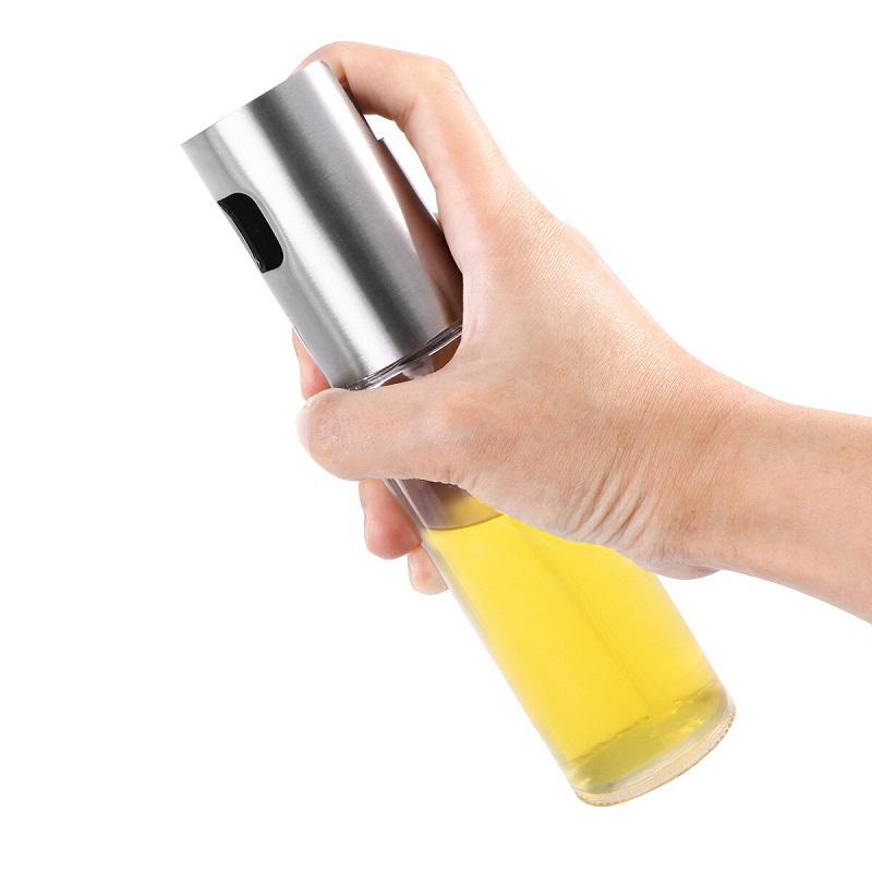 Бутылочка-спрей для масла и уксуса White Plate (цвет серебристый)