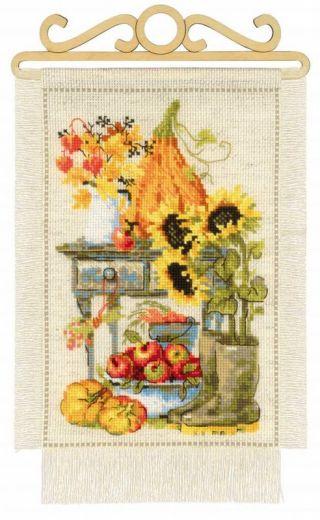 Набор для вышивания крестом Дача. Осень №1657 фирма Риолис