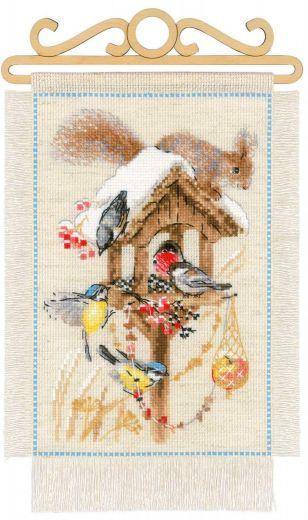 Набор для вышивания крестом Дача. Зима №1751 фирма Риолис