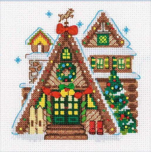 Набор для вышивания крестом Охотничий домик №1660 фирма Риолис