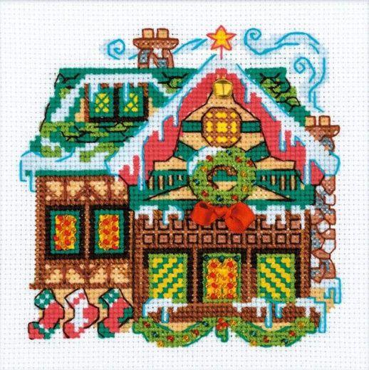 Набор для вышивания крестом Домик с колокольчиком №1663 фирма Риолис