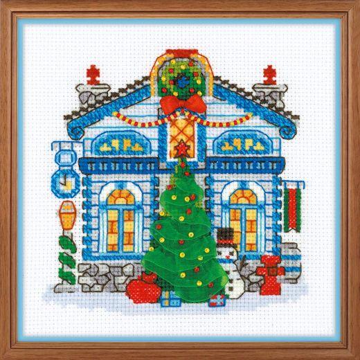 Набор для вышивания крестом Ледяной домик №1662 фирма Риолис