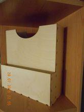 заготовка для декупажа/декора КОРОБ-ОРГАНАЙЗЕР ДЛЯ БУМАГИ (отлично подойдёт для хранения скрапбумаги разных форматов) размеры 32*32*13 см см толщина фанеры 3 мм ( поставка в разобранном виде)