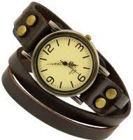 Часы на двойном кожаном ремешке