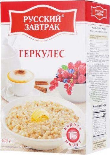 Русский Завтрак хлопья геркулес, 400 г 15 минут