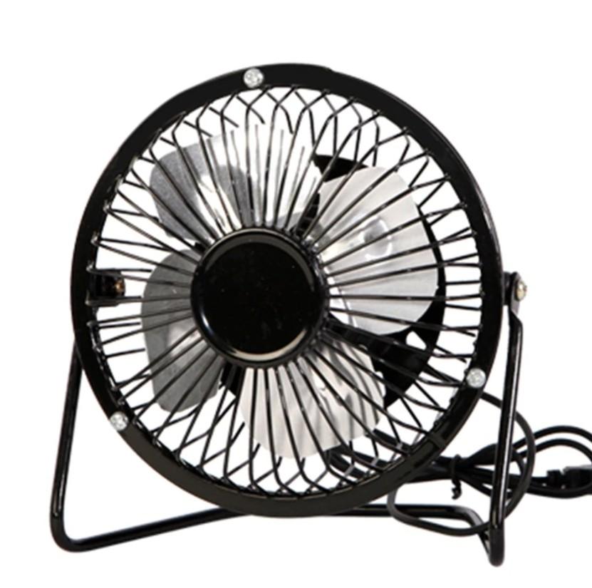 Настольный металлический USB-вентилятор Mini Fan, цвет Черный