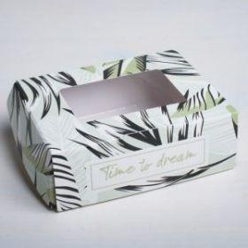 """Коробка с окошком """"Тропики"""", 10× 8 × 4 см"""