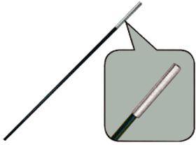 Сегменты дуги BTrace фибергласс Ø 9,5 мм, длина 1*55см