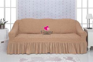 Чехол на 2-х местный диван с оборкой,медовый