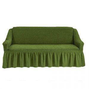 Чехол на 4-х-местный диван с оборкой (1шт.),Зеленый