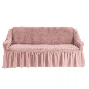 Чехол на 4-х-местный диван с оборкой (1шт.),Сухая Роза