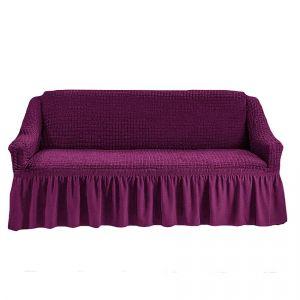 Чехол на 4-х-местный диван с оборкой (1шт.),Фиолетовый