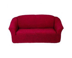 Чехол на 2х-местный диван без оборки,Бордовый