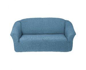Чехол на 2х-местный диван без оборки,Морская волна