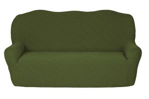 Чехол на 3х-местный диван без оборки , KAR 011-03 Yesil