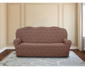 Чехол на 3х-местный диван без оборки ,KAR 001-05 A.Kahve