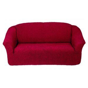 Чехол на 3х-местный диван без оборки,Бордовый