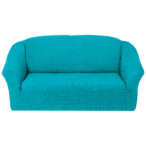 Чехол на 3х-местный диван без оборки,Голубой