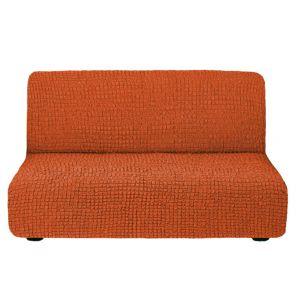 Чехол на диван без подлокотников кирпичный