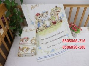 ZH049 Желтая Bears Family МВ 110х110 Простыня 7-Я