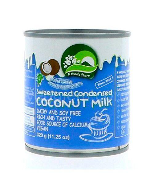 """Сгущенное молоко на кокосовых сливках веган  """"Natures Charm"""",320 грамм"""