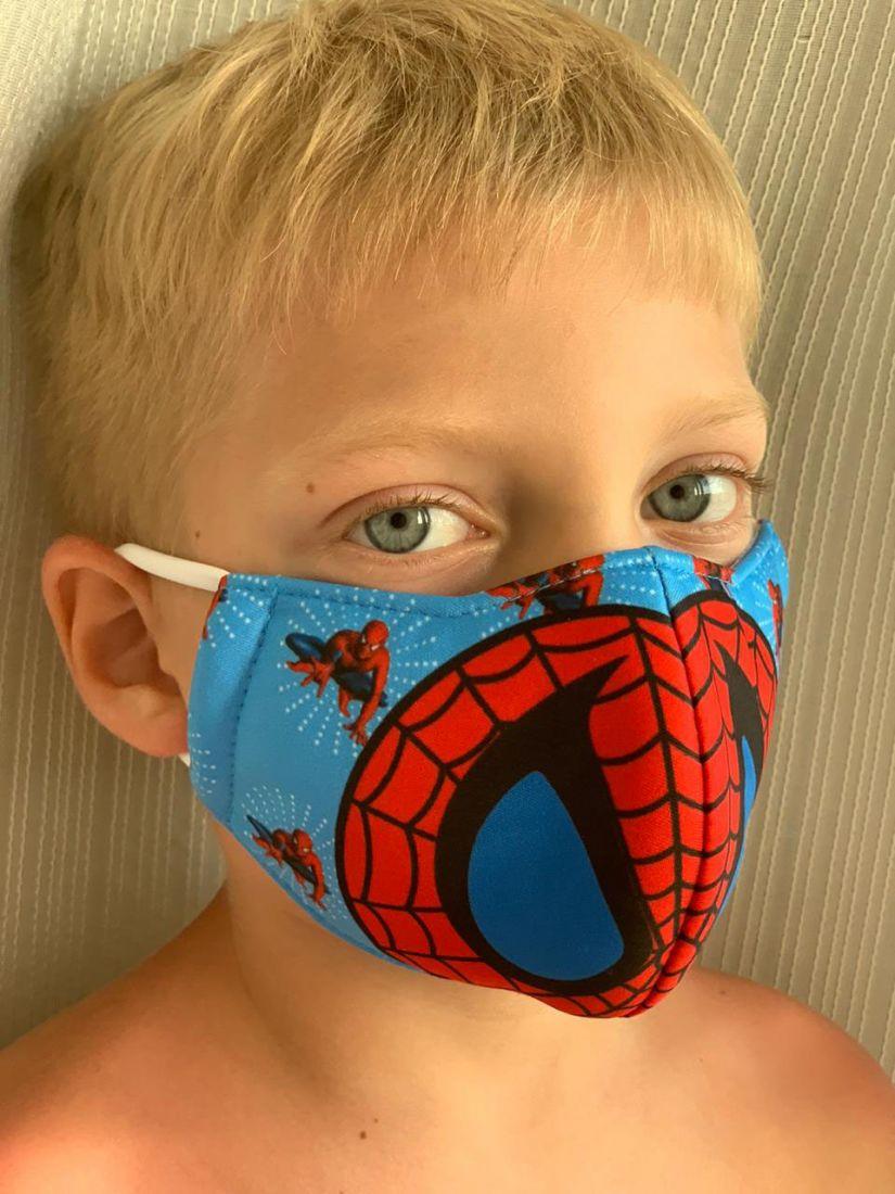 Защитная маска для мальчиков, Спайдермен, 2-4 года (Москва)