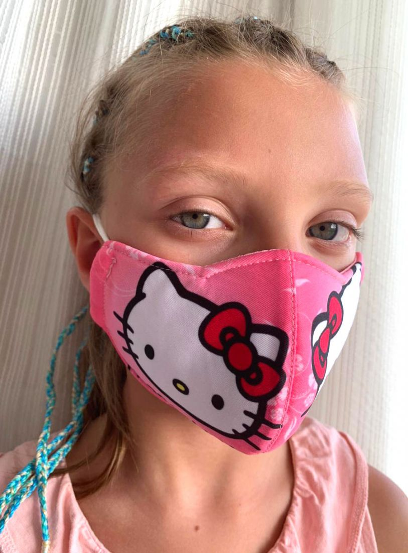 Многоразовая защитная маска для детей и взрослых Hello Kitty (СПб)